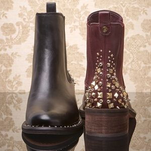 Sam Edelman Dover Chelsea Leather Studded Boots